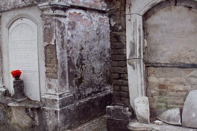 Side by side tombs in Lafayette Cemetery New Orleans