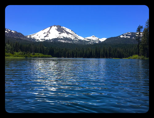 Lake Manzanita and Mt. Lassen