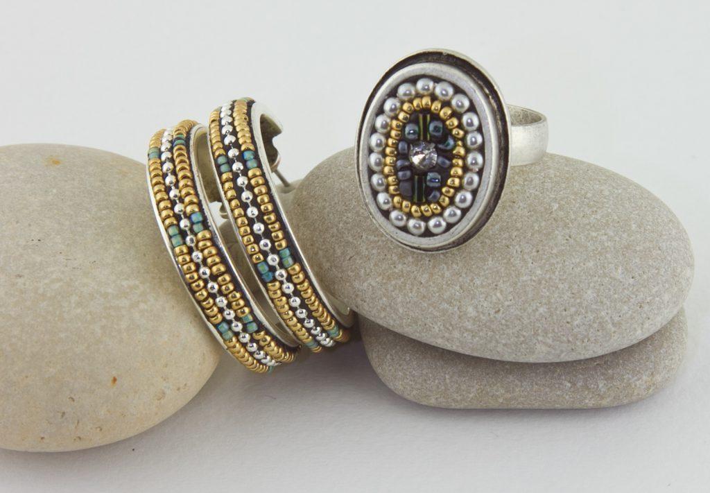 Luxe Ring and Hoop Earrings